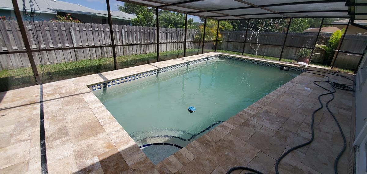 Paver Pool Area